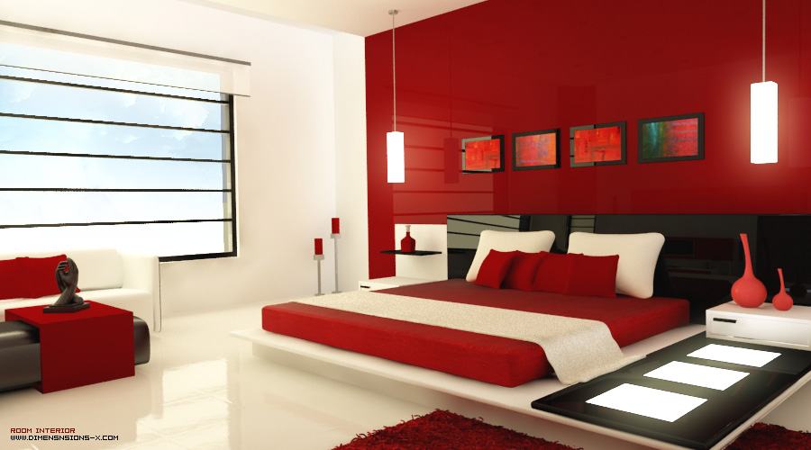 red bedrooms. Black Bedroom Furniture Sets. Home Design Ideas