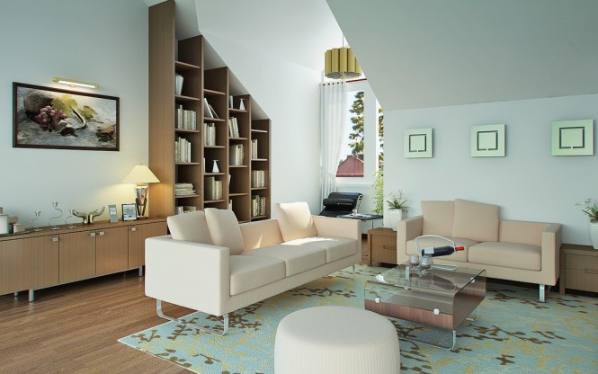 vu khoi elegant living room with teal and beige