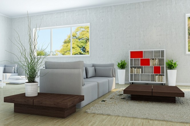 vu khoi grey living room and brown tables