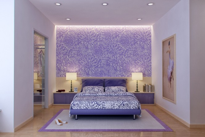 vu khoi purple and white bedroom