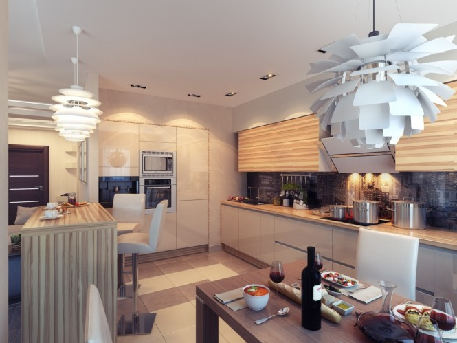Kitchen with Ambient Lighting