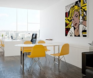 retro office interiors