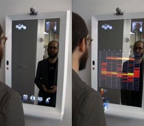 technology mirror in bathroom