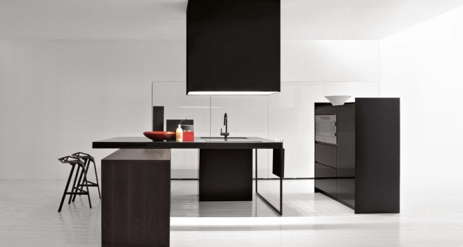 All Black Simple Kitchen