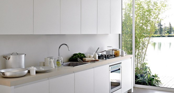 White Kitchen With Great Natural Lighting