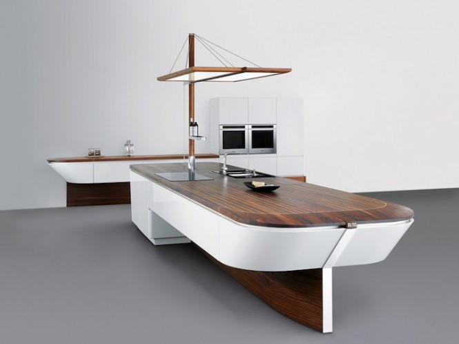 boat shaped kitchen