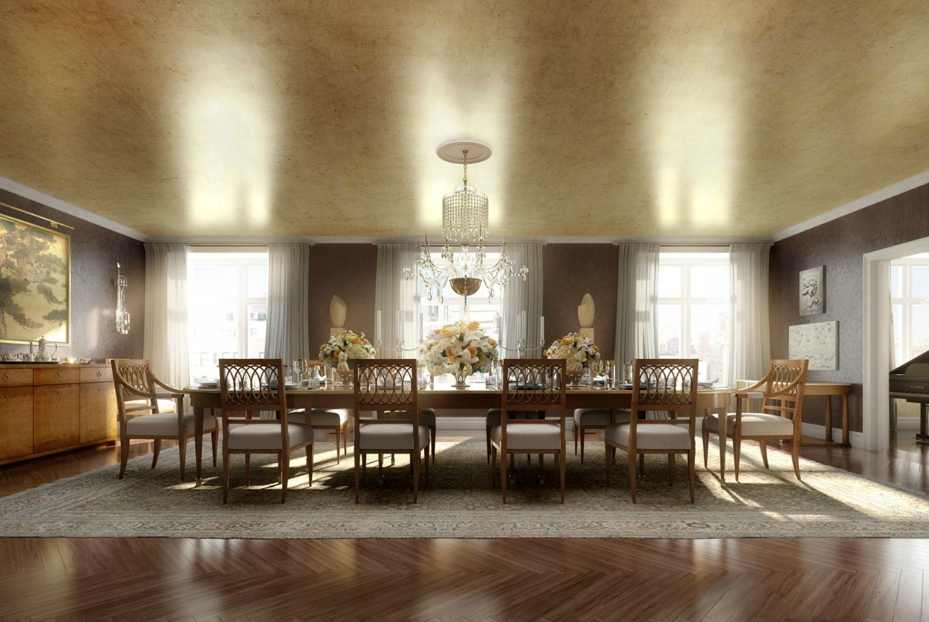 Classic luxury dining room for Large dining room design