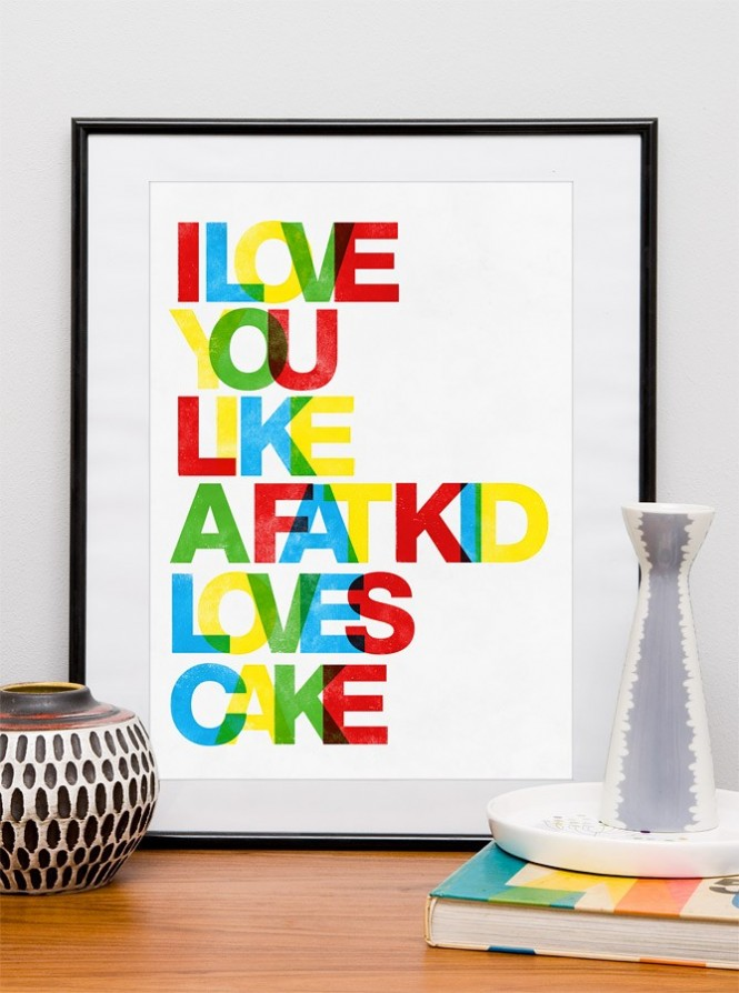 colorful type prints