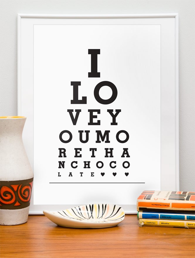 eye test like print