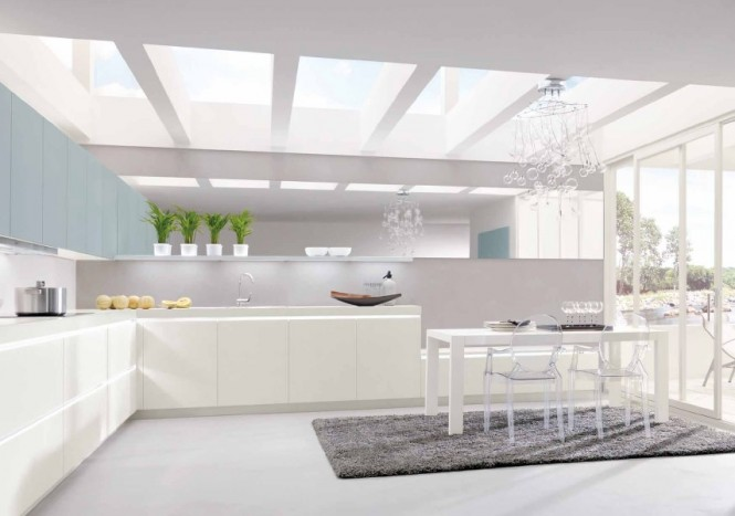 sparkling white kitchen