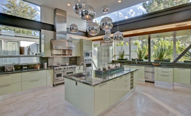 Hollywood mint kitchen island
