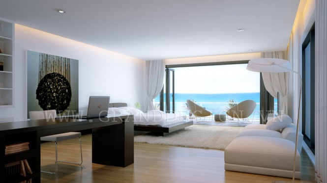 Sea view bedroom
