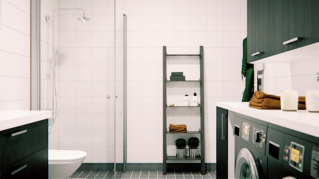 Kitchens and bathrooms are sleek and streamlined, and all space is used to it's maximum potential with clever storage.