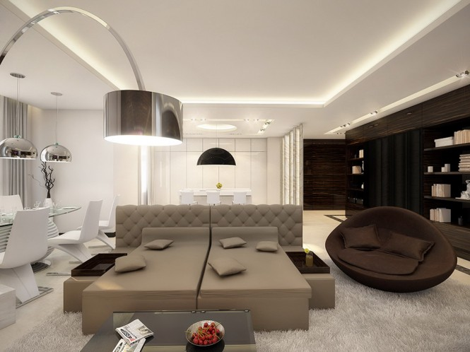 White taupe brown lounge