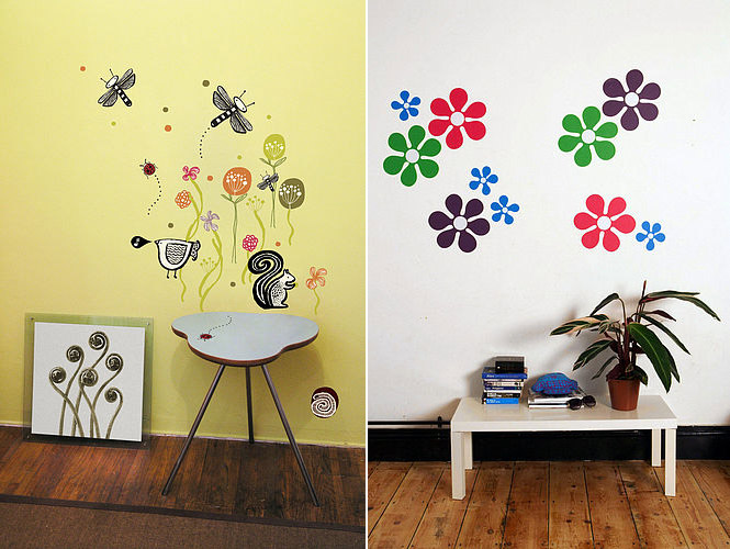 flower nature wall stickers