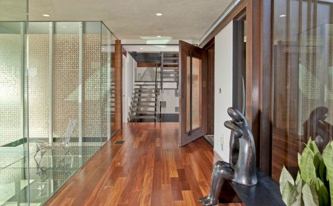 glass floor wood floor
