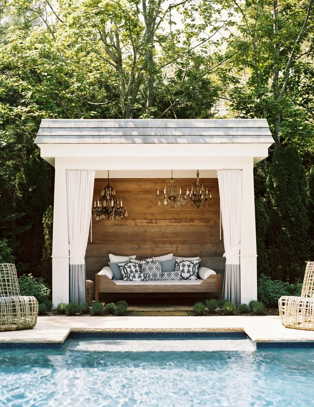 luxury poolside cabana