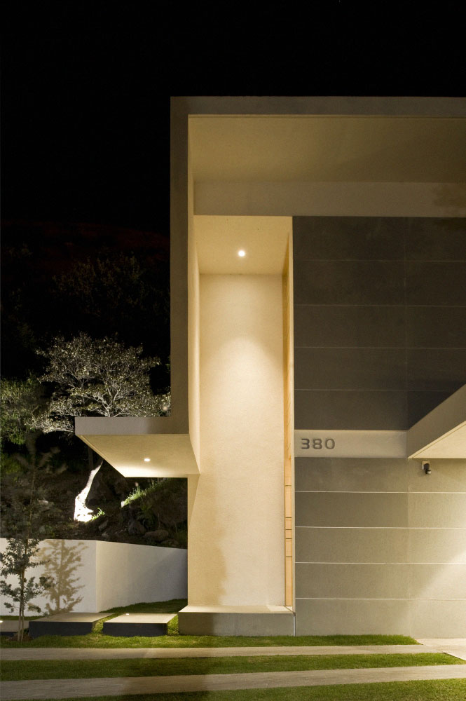 mountain house exterior lighting