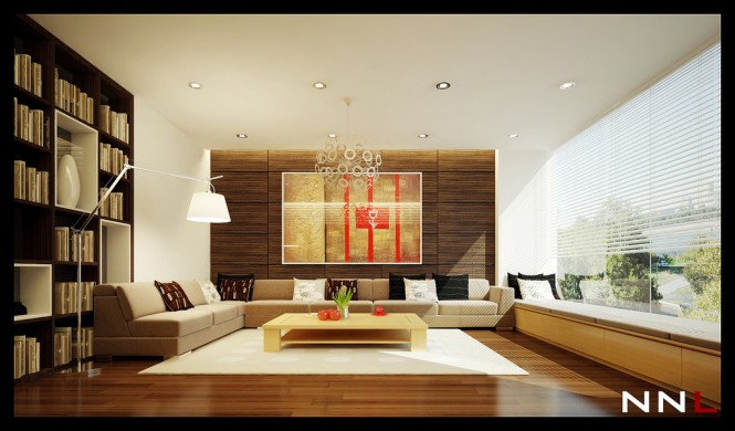 neutral living room 665x390 Dream Home Interiors by Open Design