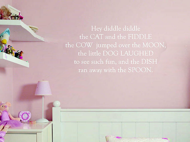 nursery rhyme wall stickers