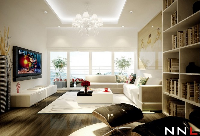white living room 665x452 Dream Home Interiors by Open Design