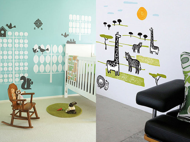 zoo animal wall stickers