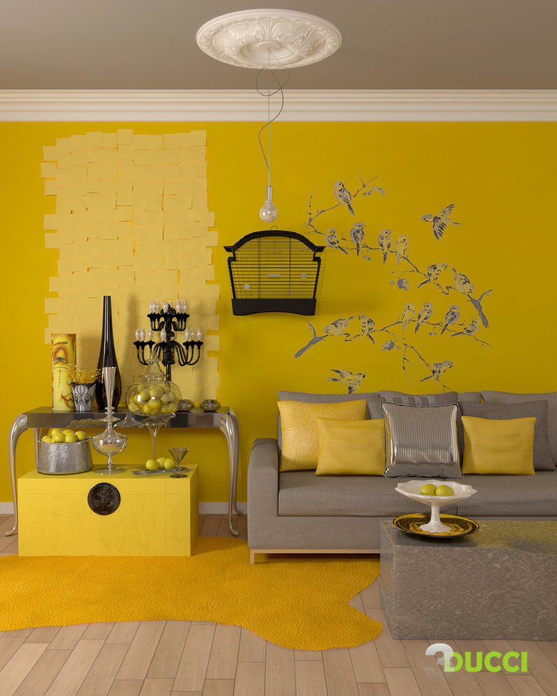 Interior Paint Colors On Pinterest Yellow Living Rooms