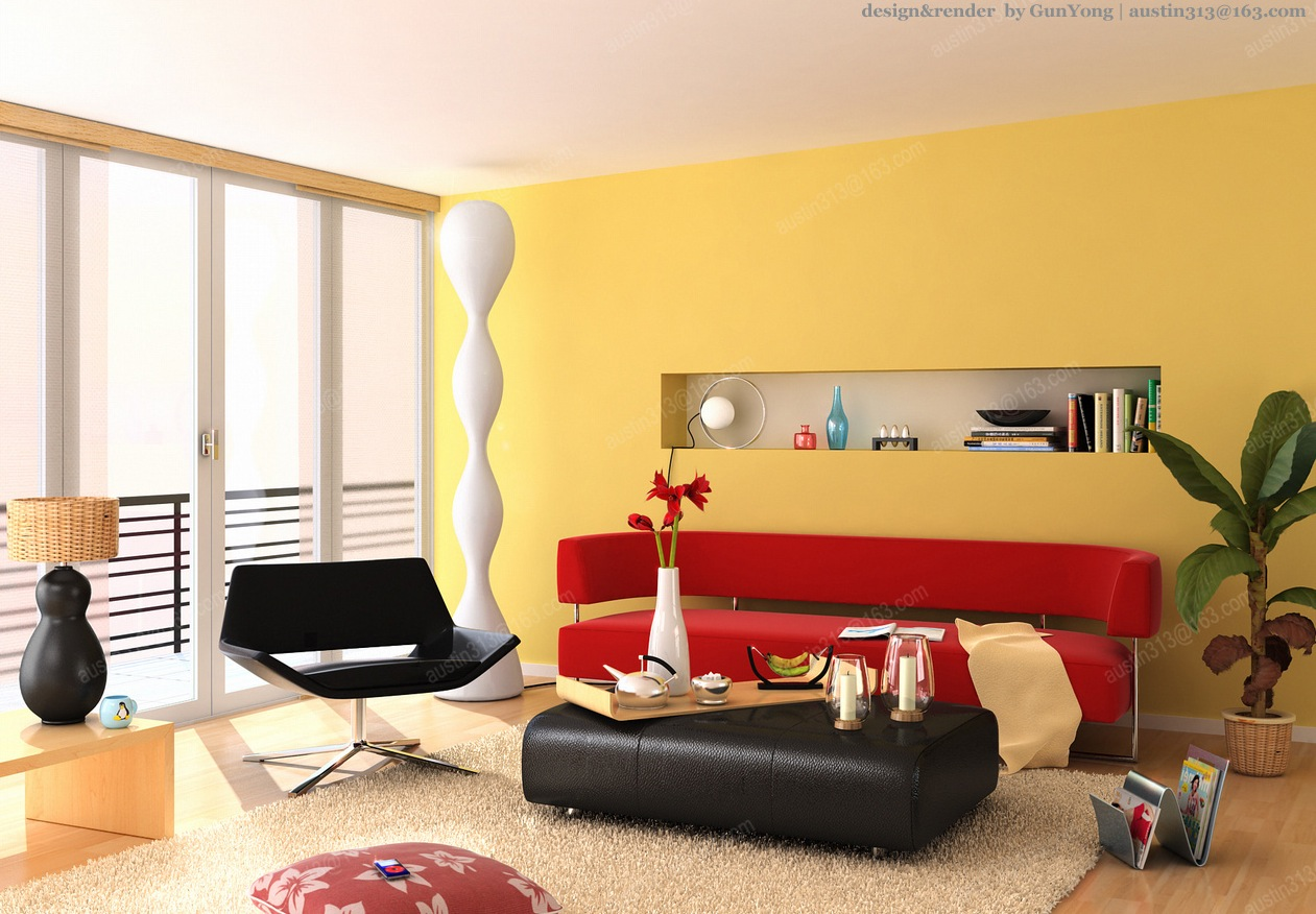 White And Red Living Room Red Living Room Interior Design Ideas