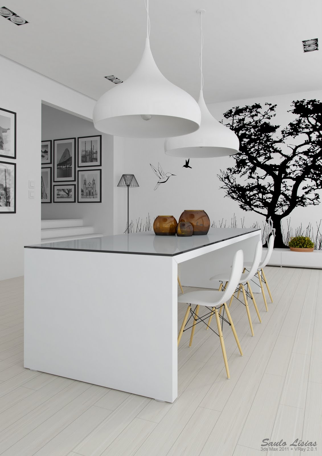 Keuken Inspiratie Kleuren : Black and White Kitchen Wall Decor