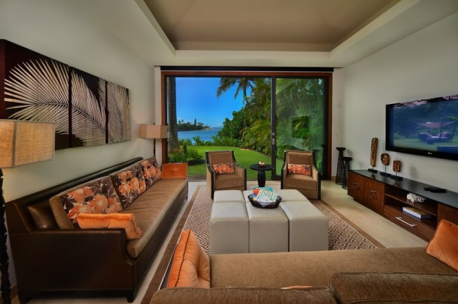 Maui brown cream living room