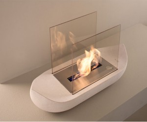 SAIL Boat shaped fireplace