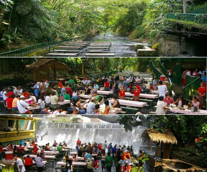 Waterfalls restaurant in river