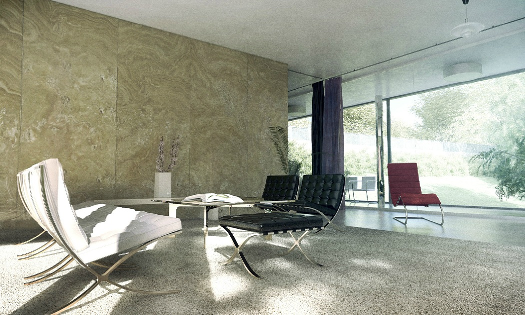 Interiors By Xoio Sitting Room Marble Wall Interior
