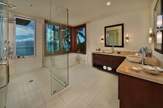 white wood luxury bathroom