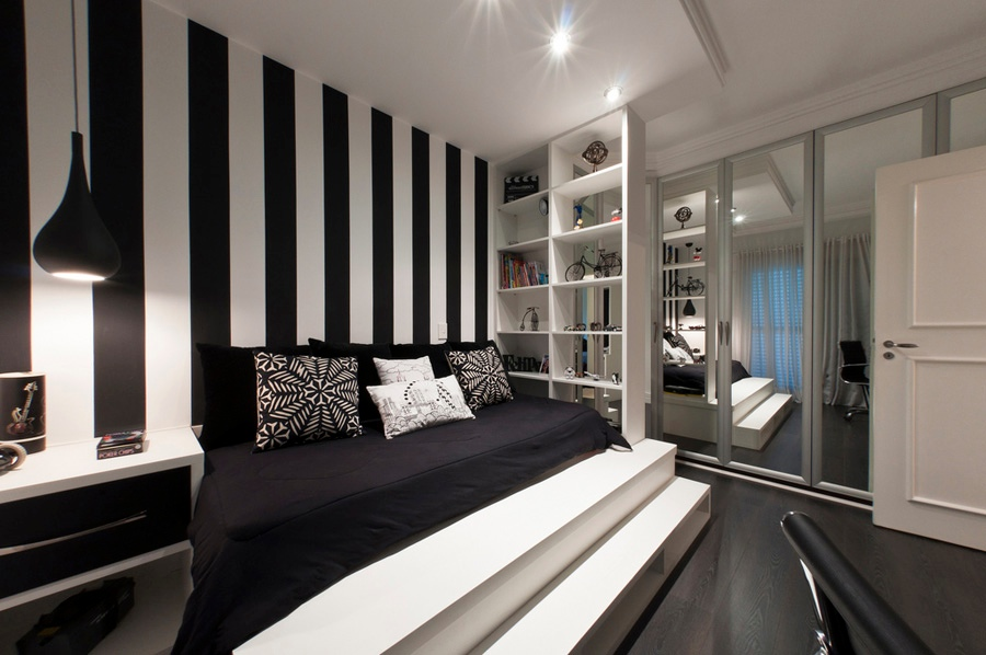 black and white bedroom wall designs 2017 grasscloth