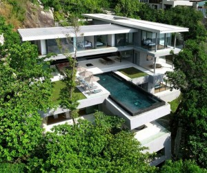 Boasting six bedrooms, a cantilevered 15m swimming pool with infinity edge, and an awesome panorama of the bright blue Andaman Sea, this impressive residence luxuriates in a dramatic mountain location on Kamalas Millionaires Mile.
