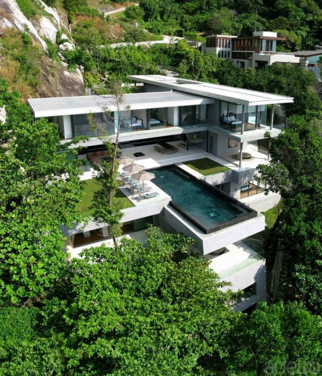 Boasting six bedrooms, a cantilevered 15m swimming pool with infinity edge, and an awesome panorama of the bright blue Andaman Sea, this impressive residence luxuriates in a dramatic mountain location on Kamala's Millionaires Mile.