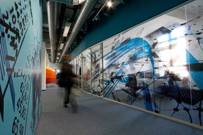 Contemporary Workplace graphical wall treatment