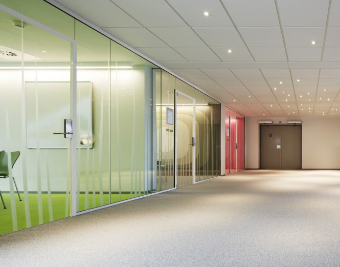 Glass wall meeting rooms
