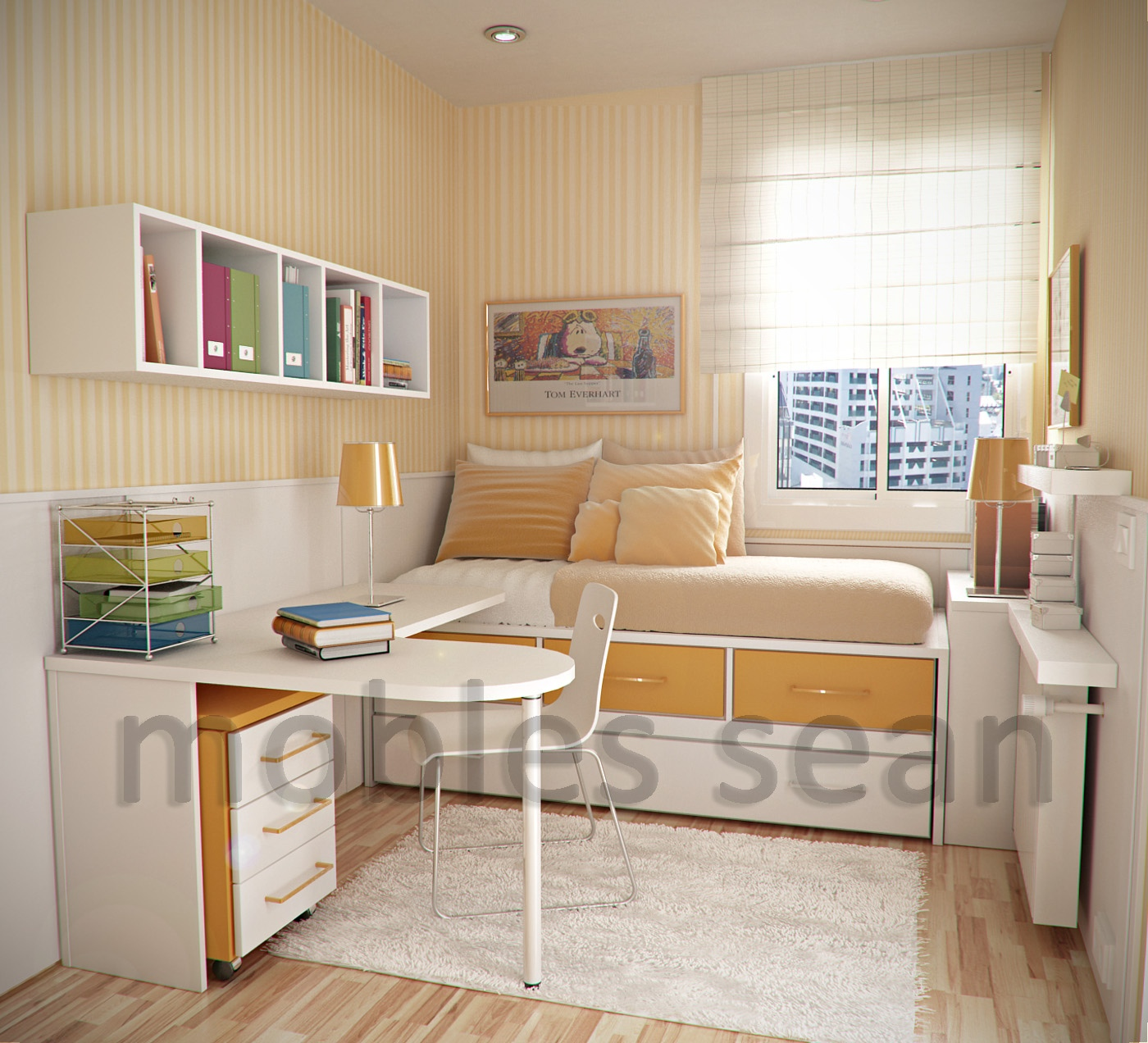 Small Spaces Kids Bedroom Simple Home Decoration