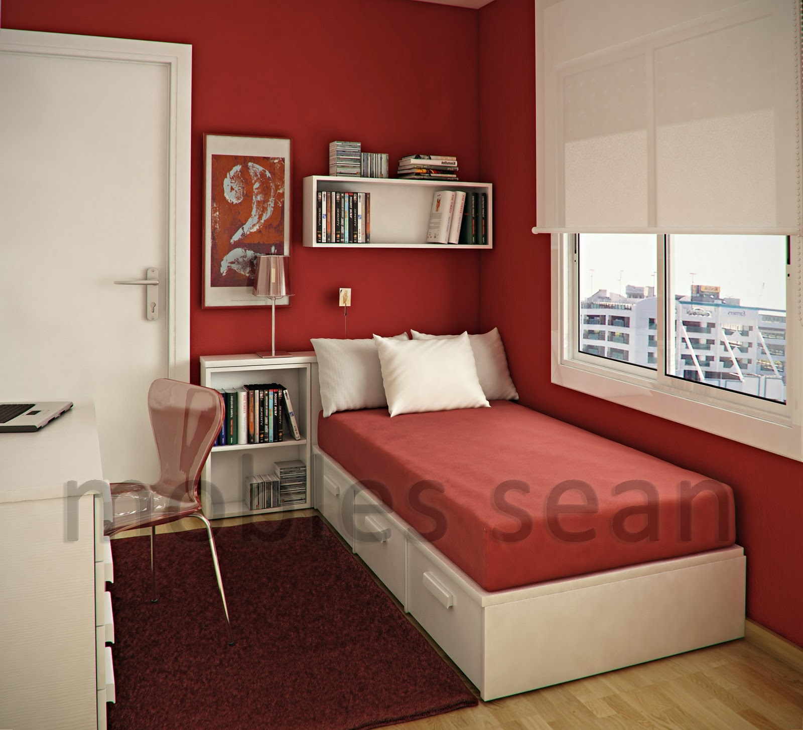 Red Bedroom Ideas Small Room