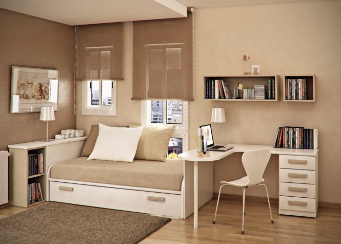 Taupe beige kids room