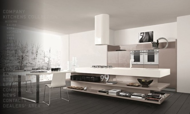 Taupe white kitchen