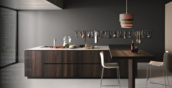 modern coffee kitchen island