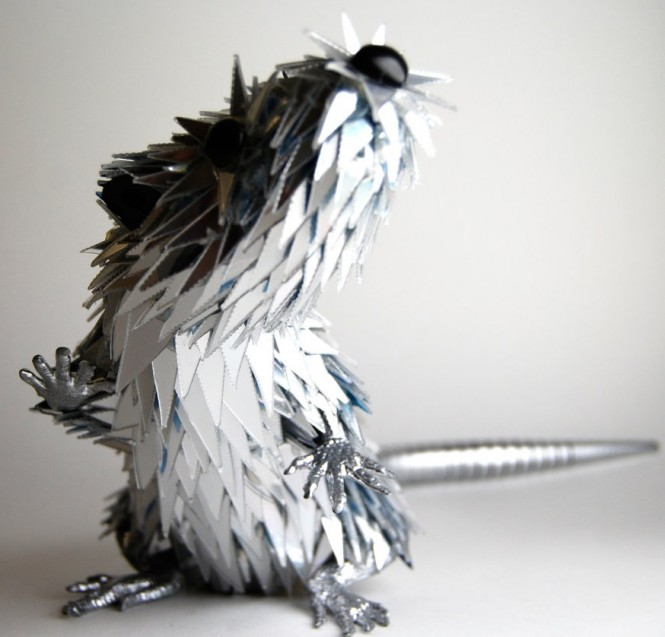 rodent animal mixed media sculpture Sean Avery