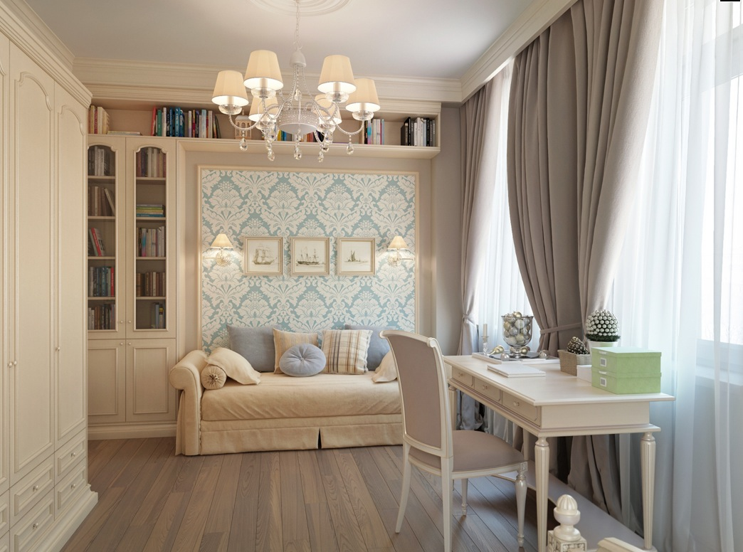 Cream Bedroom Decor: St.Petersburg Apartment With A Traditional Twist
