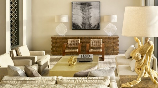 Chic neutral living room