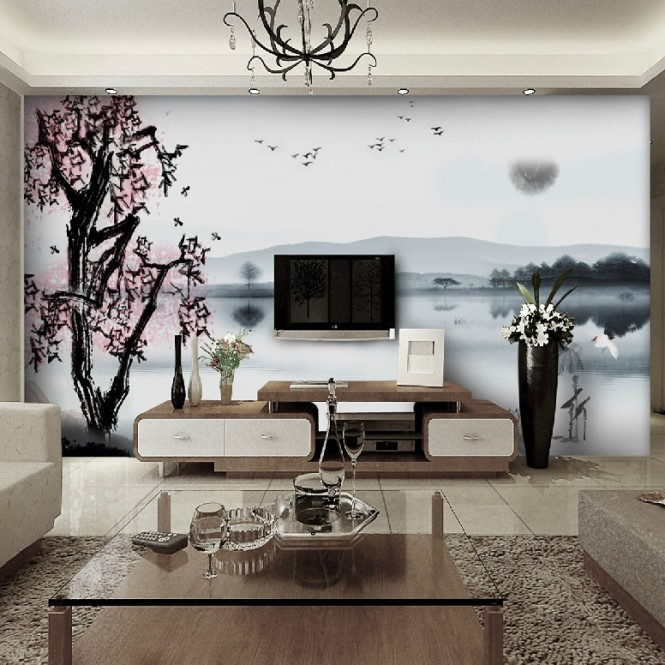 Chinese Landscape wall mural decal