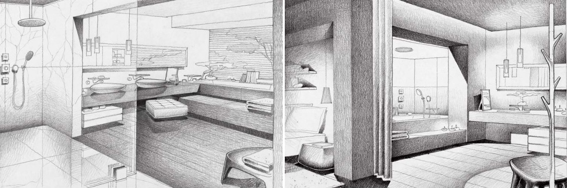 Jean Marie Massaud Bathroom Design Sketch