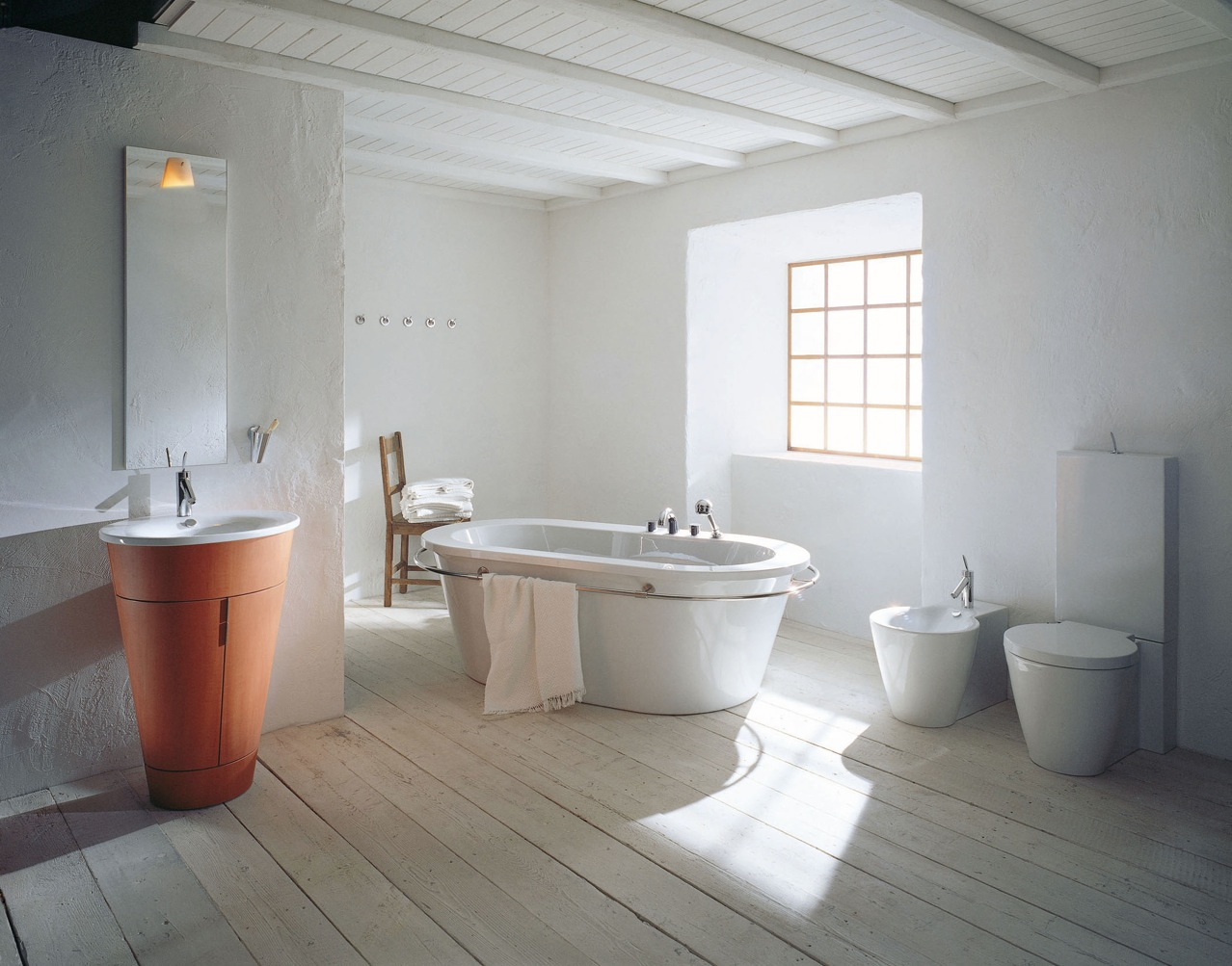 Philipe starck rustic modern bathroom decor for Pictures of contemporary bathrooms